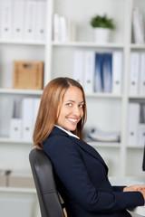 strahlende businessfrau