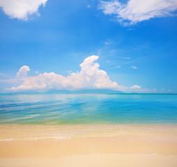 beach of koh Samui and tropical sea