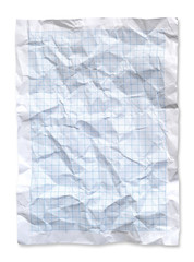 Wrinkled Blue graph paper.
