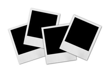 Blank photo isolated on white