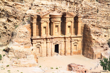 Monastery remains of the larges monument in Petra.