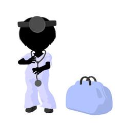 Little Doctor Girl Illustration Silhouette