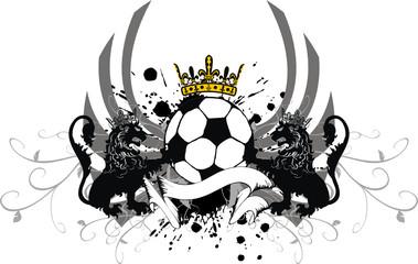heraldic soccer lion crest8