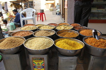 snaks on street foodmarket in India