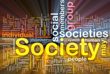 Society background concept glowing