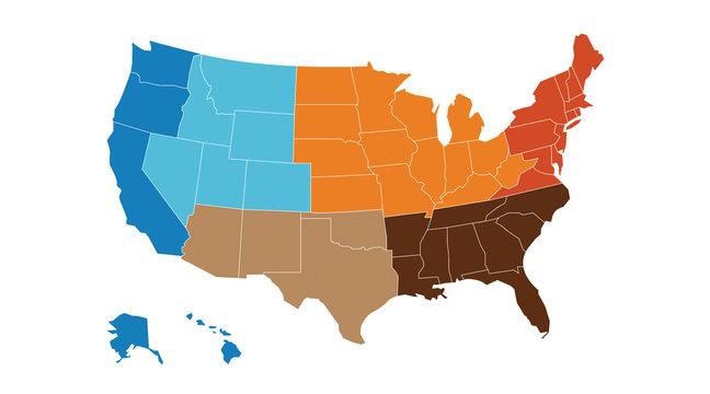 US regional map