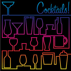 Bright Spectrum Cocktail card in vector format.