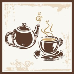 Tea Time Party Invitation Card