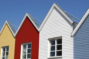 Hausfassaden aus Holz