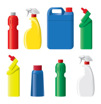 Set of detergent botles