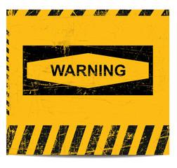 Warning sign banner