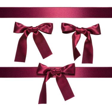 dark-red multiple ribbon