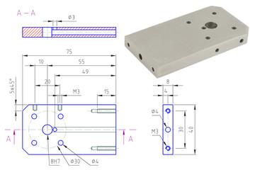 Części Detal - Rysunek Techniczny - CNC