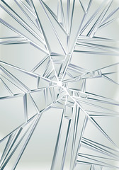 Broken glass. Vector background.