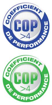COP - coéfficient de performance énergétique supérieur à 4