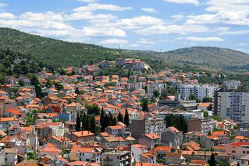 View at Sibenik in Croatia