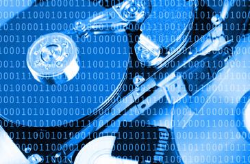 Numbers of binary code data