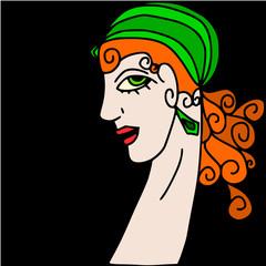 Spoed Foto op Canvas Klassieke abstractie abstract woman