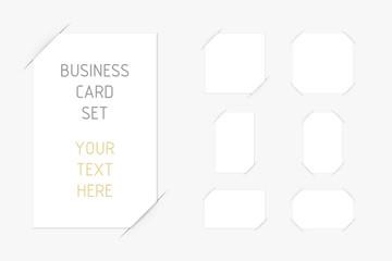 visitenkarte in geschlitzten papier 7