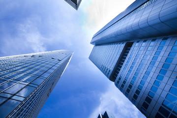 Fotobehang Aan het plafond Buildings in perspective