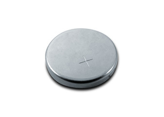 small battery isolated on white with clipping path