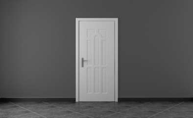 Interno con porta vuoto da arredare