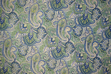 paisley design on fabric swatch , Jaipur, Rajasthan, India
