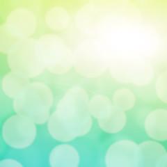 Turquoise bokeh