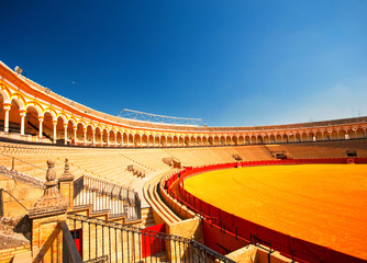 The bull arena of Seville, Spain