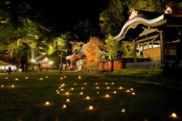 ライトアップされた二荒山神社