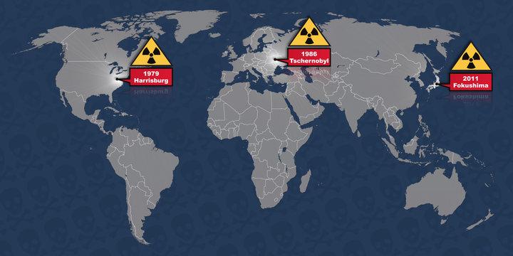 Atomunfall Harrisburg Tschernobyl Fukushima