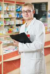 Pharmacy specialist in drugstore