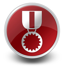 "Red Glossy Icon ""Award Medal"""
