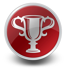 "Red Glossy Icon ""Award Cup"""