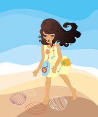 海滩上的女孩