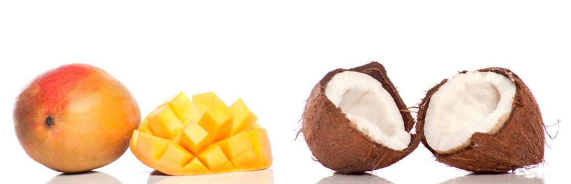 mangue , noix de coco