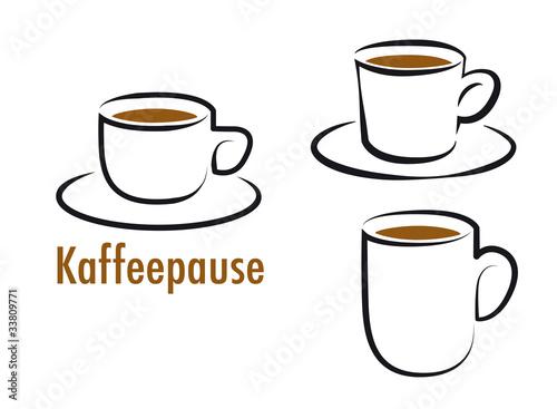 kaffeepause kaffeetassen kaffeebecher picto. Black Bedroom Furniture Sets. Home Design Ideas