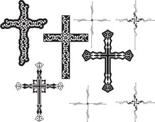 cross design set