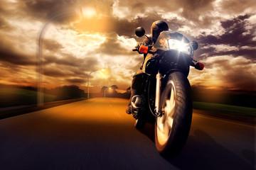 Fototapete - Motorbike Driving
