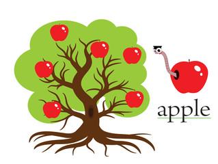 Apple tree,vector.