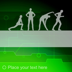 Healthy human background illustration vector