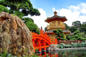 Foto auf Acrylglas Hongkong The Pavilion of Absolute Perfection in the Nan Lian Garden, Hong