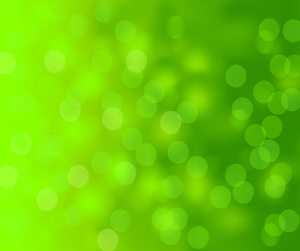 Abstract background with bright green magic lights