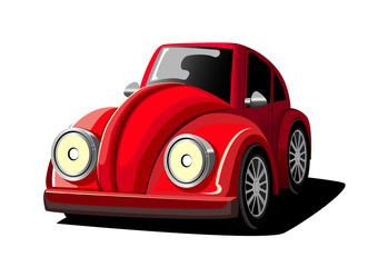 Printed roller blinds Cars Cartoon Red Car