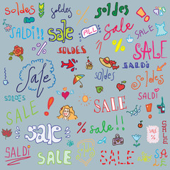 Sale set background