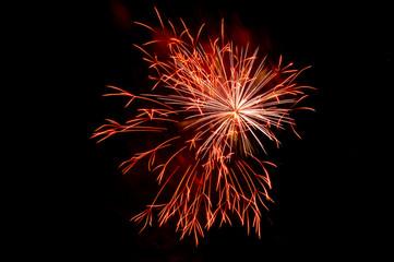 Red-orange fireworks