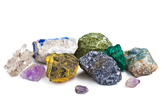 collection of minerals isolated