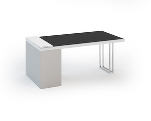 Contemporary Office Table on White Background