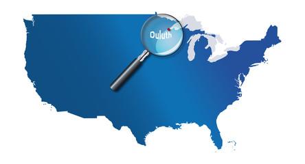 Duluth, Minnesota, États-Unis, USA - localisation