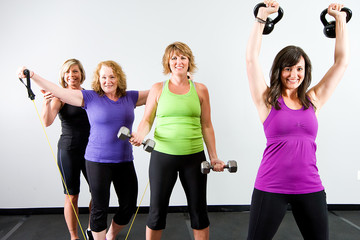 Healthy Women working out
